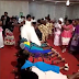 Couple filmed walking on guests at their wedding ceremony (photo)