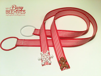 Red and White Christmas bookmarks