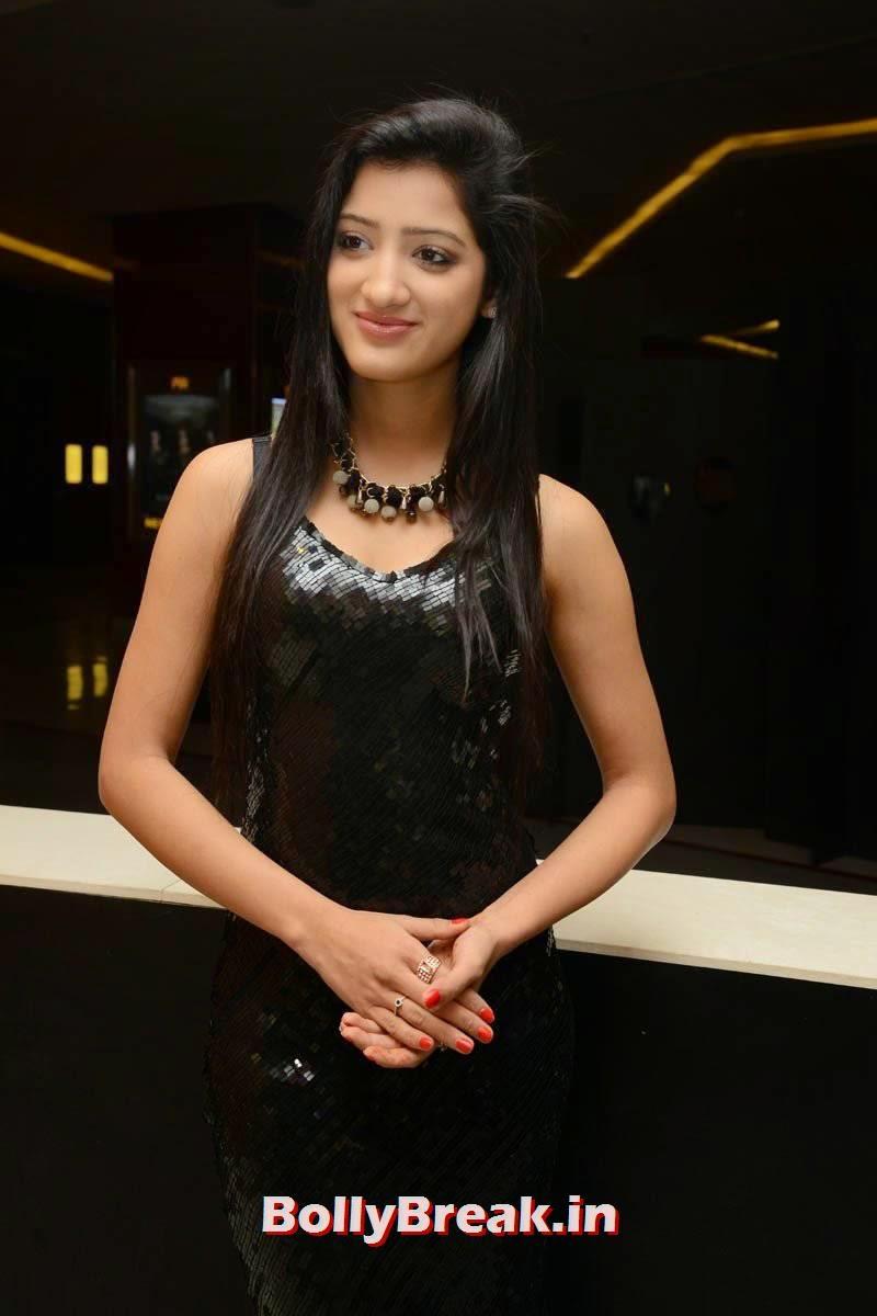 Richa Panai images, Richa Panai Hot Hd Pics in Shiny Black Short Dress