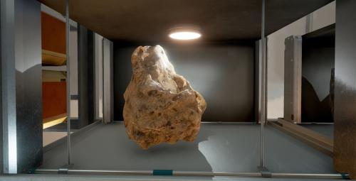 """Một mẫu vật thu được sau cuộc thám hiểm bên ngoài thực địa. Ngoài thu thập đất đá, những khu vực được người chơi đặt chân đến sẽ được đánh dấu là """"nơi đã được khám phá""""."""