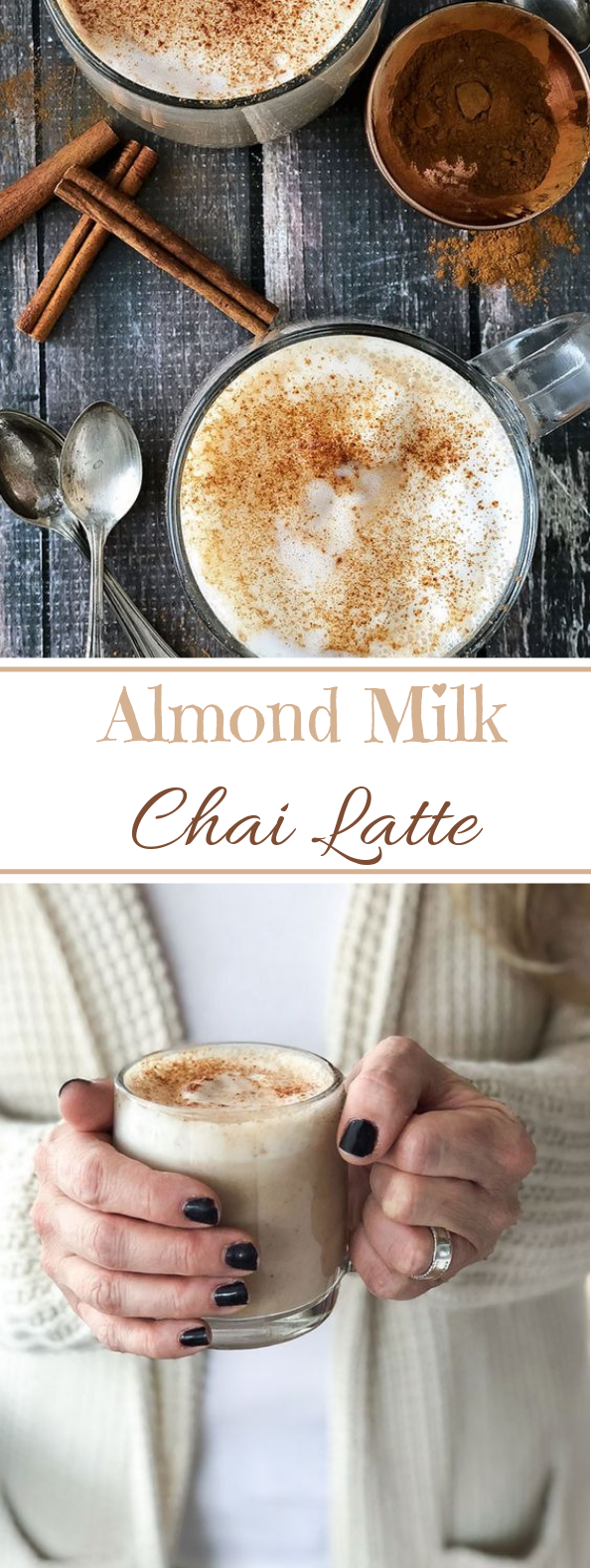 Almond Milk Chai Latte #drinks #latte