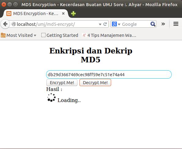 cara dekrip php md5