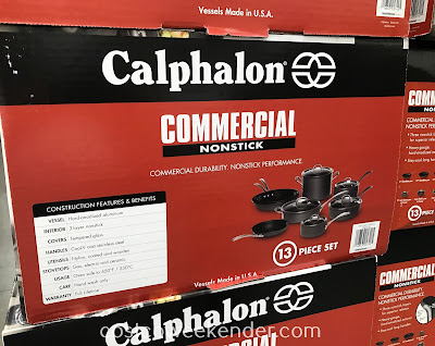 Costco 730384 - Calphalon 13pc Commercial Hard Anondized Cookware: great for any home chef's kitchen