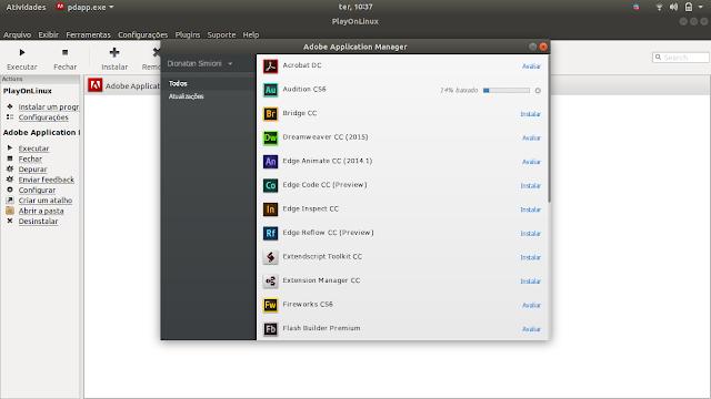 Gerenciador da Adobe no Linux