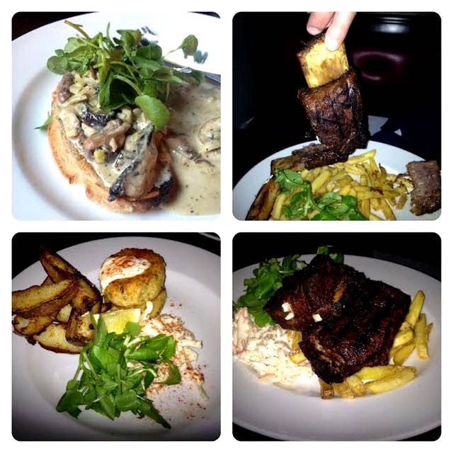 Images of the food at The Bolton Pub, West London