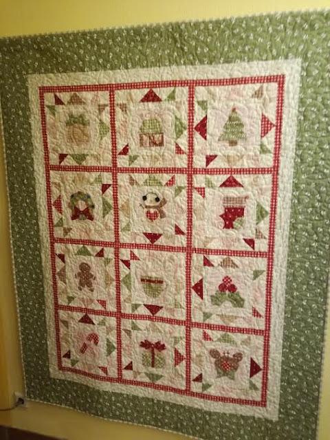 Wandbehang Quilt Cozy Christmas