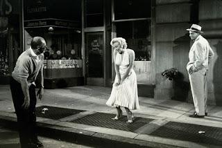 Escena vestido Marilyn Monroe detrás de las cámaras