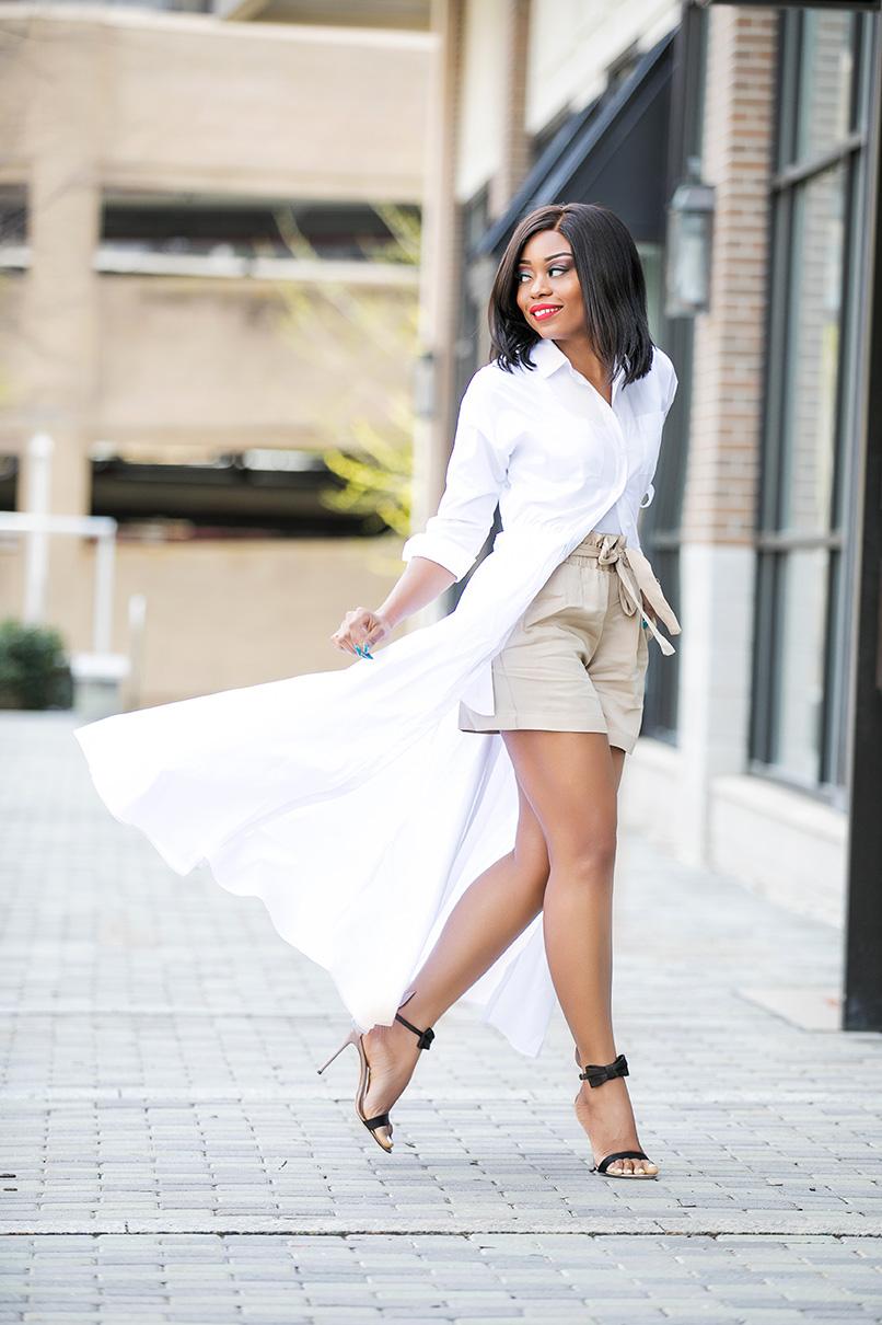 Different Ways To Style Shirtdress, www.jadore-fashion.com