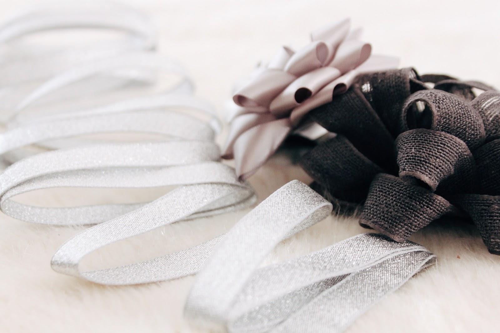 paperchase silver ribbon