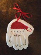 Handprint Santa Ornaments