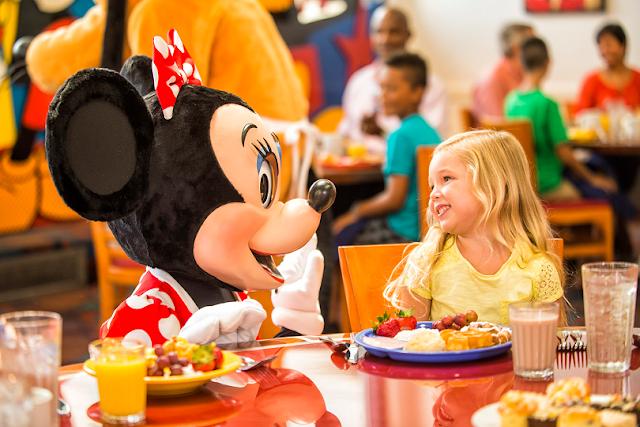 Restaurantes com Personagens da Disney em Orlando