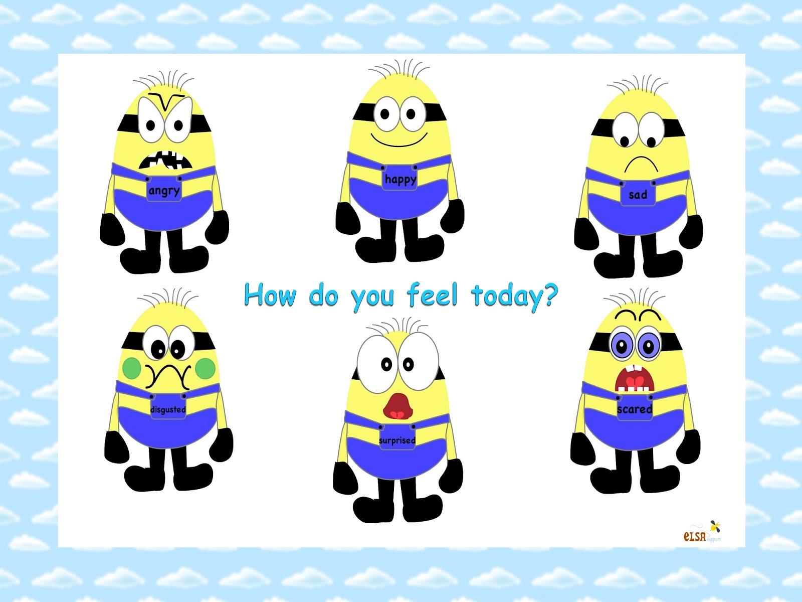 Debbie S Resource Cupboard Minion Emotions
