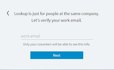 Linkedin Lookup: Registration Step 2
