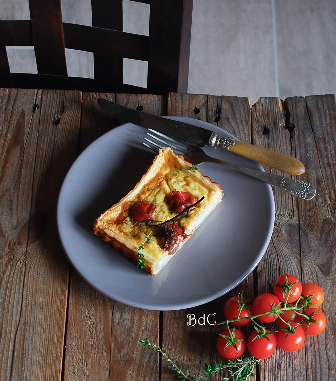 Tarta de queso de cabra y tomates confitados - El bistrot de Carmen