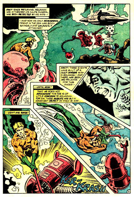 Aquaman v1 #62 dc 1970s bronze age comic book page art by Don Newton