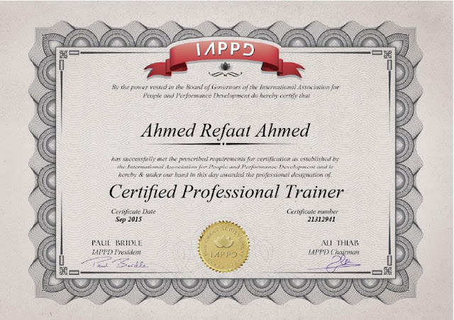 Certified Professional Trainer ( Instructor )  - IAPPD