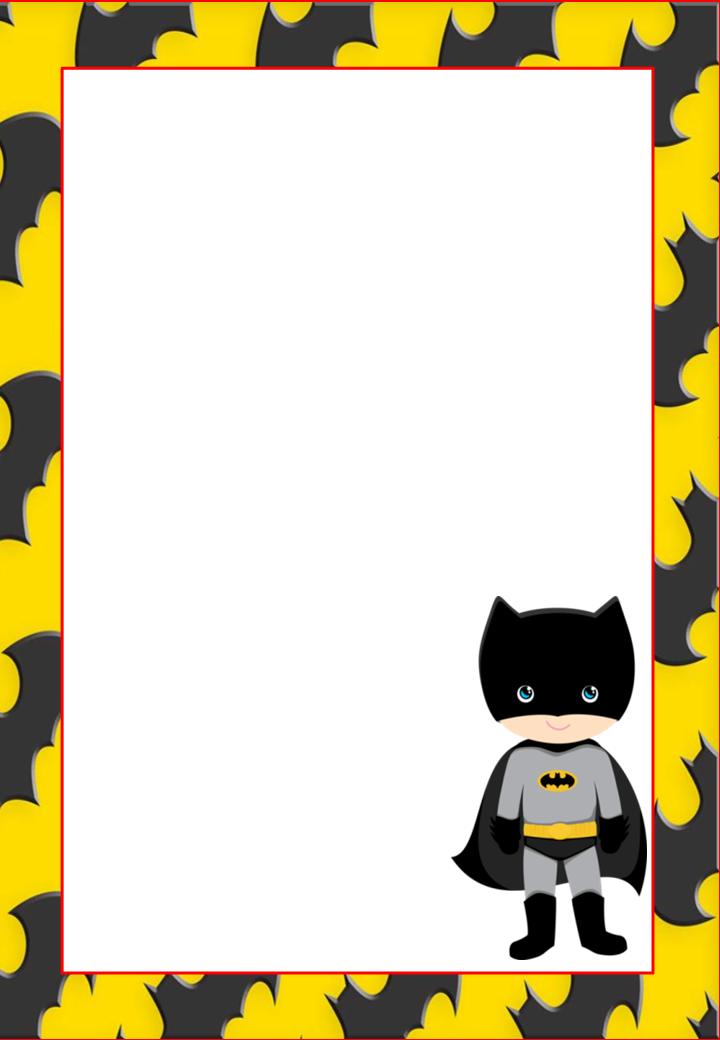 , Invitaciones, Tarjetas o Etiquetas de Batman para Imprimir Gratis