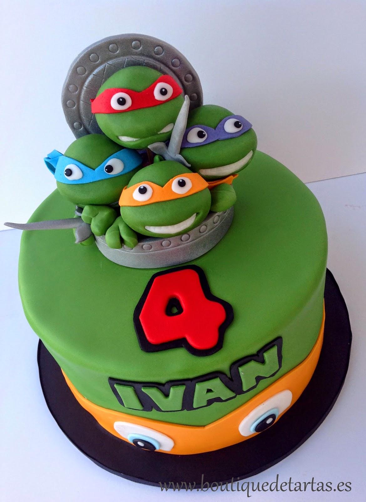 La Boutique De Las Tartas Cake Design Tarta Tortugas Ninja