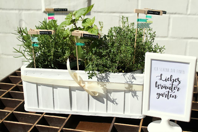 Kraeutergarten DIY Geschenkidee Mitbringsel Jules kleines Freudenhaus