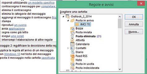 cartella di archiviazione email outlook