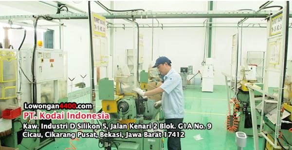 Lowongan Kerja PT. Kodai Indonesia Cikarang