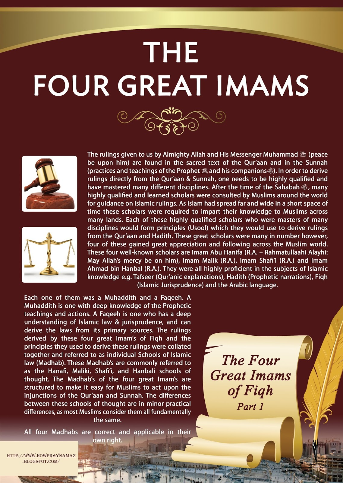 The Four Great Imams Of Fiqh | How To Pray Namaz
