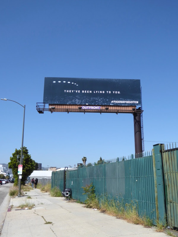 Phoenix Forgotten UFO billboard