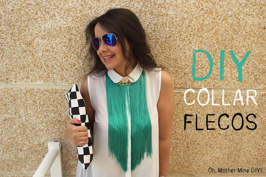 DIY Collar de flecos verde esmeralda / DIY How to make a Fringed Necklace