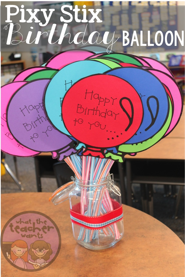 Classroom Birthday Ideas ~ What the teacher wants student birthdays