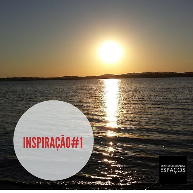 Inspiração # 1 - por do sol no lago