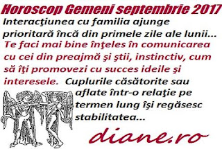 Horoscop septembrie 2017 Gemeni