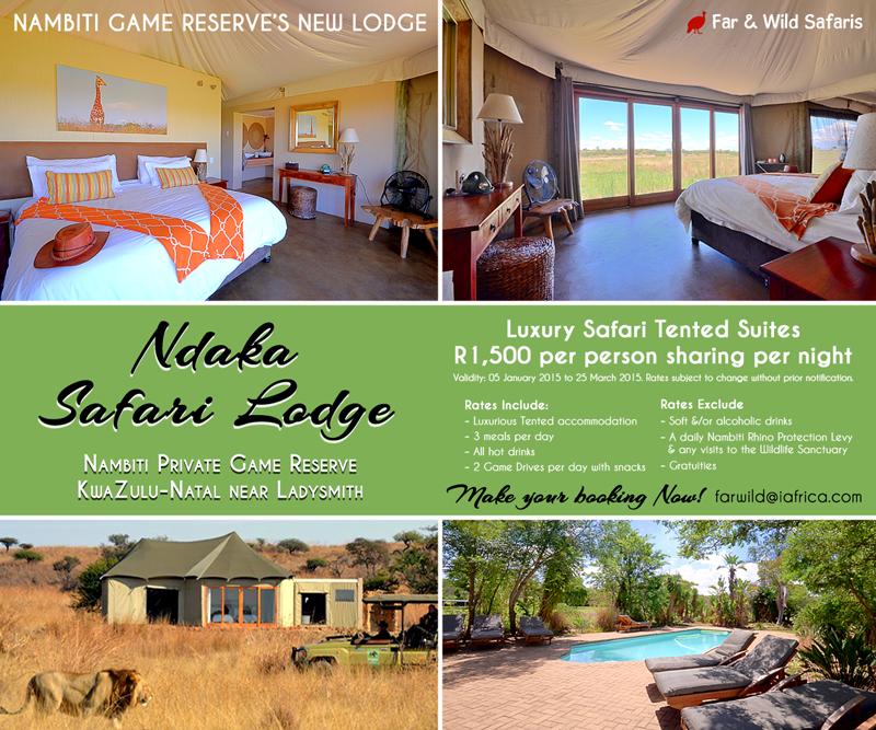 Far and Wild Safaris Blog: Ndaka Safari Lodge located in ...
