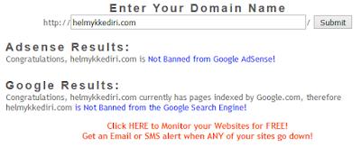 Cek situs yang pernah dibanned adsense1