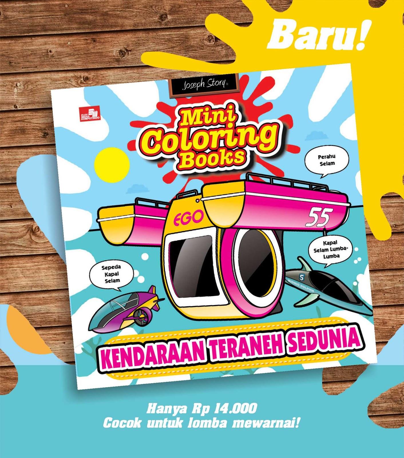 Atau Anda Bisa Beli Online Di Gramedia Mini Coloring Books Kendaraan An Publisher Elex Media Komputidno ISBN 9786020445267