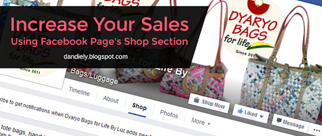 Increase Your Sales Using Facebook Page's Shop Section