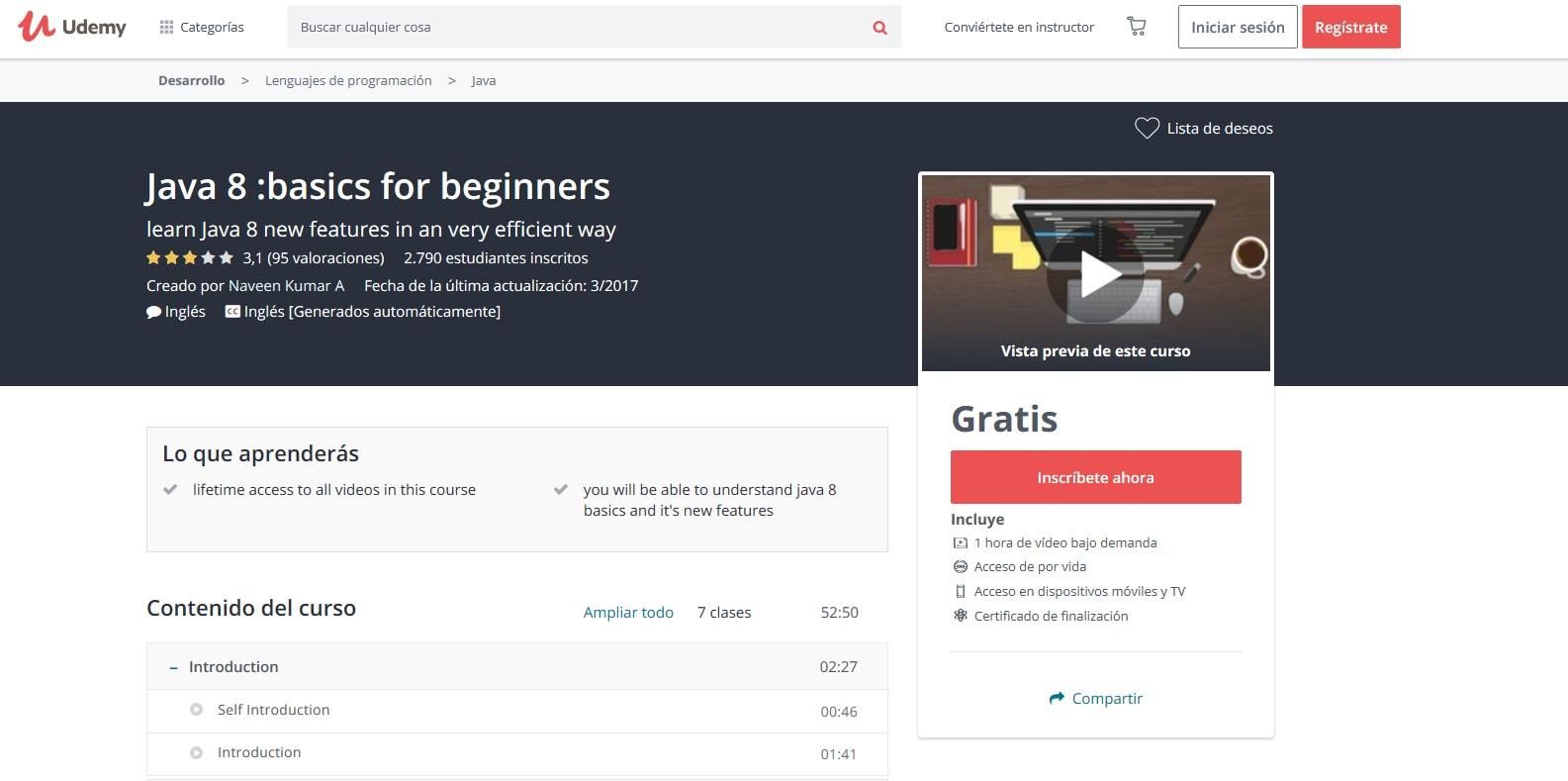 Cursos para aprender Java 8 y 9