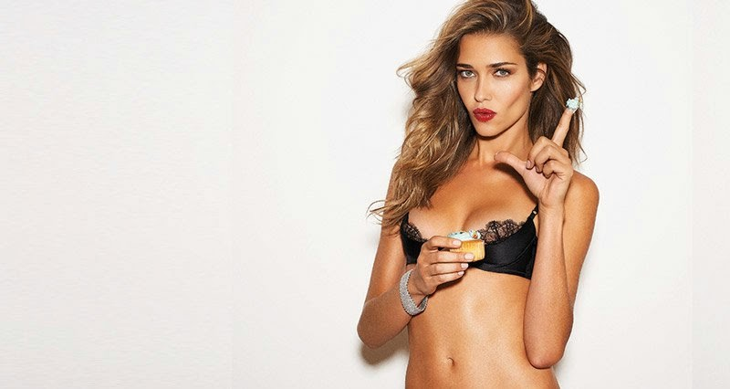 Ana Beatriz Barros covers GQ Mexico November 2014 in a black lace bra