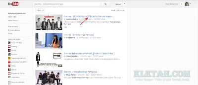 Hasil Pencarian Video di Youtube