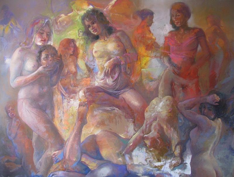 Pinturas sensuais de Zenon Sansuste Zapata