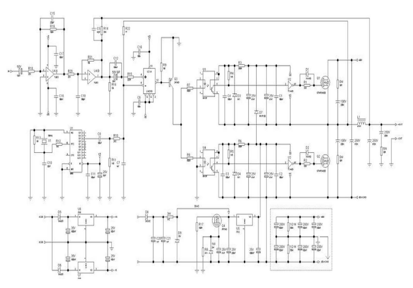 class d amplifier schematic 1000w [ 1600 x 1116 Pixel ]