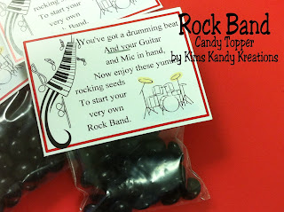 Rock Band Candy Topper Printable by Kims Kandy Kreations