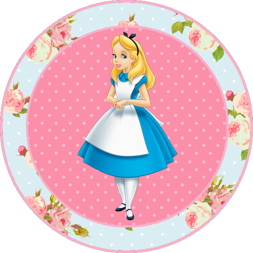 Alice in Wonderland Free Printable Toppers, labels or stickers.
