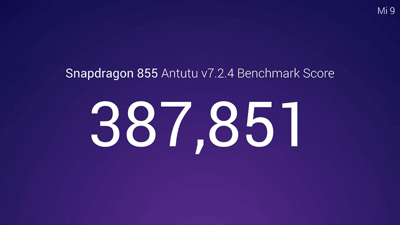 Xiaomi confirms Mi 9 with Snapdragon 855 has an AnTuTu score of 387,851