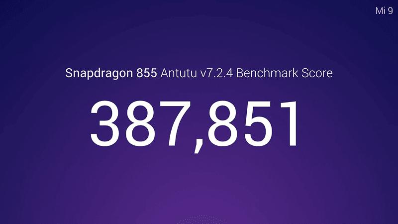 Xiaomi confirms Mi 9 with Snapdragon 855 has an AnTuTu score of 387,851
