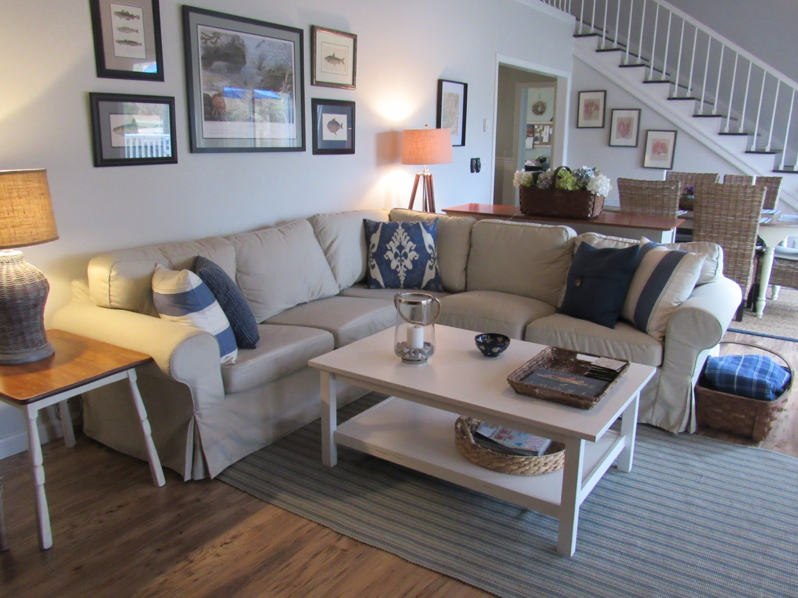 Salt Marsh Cottage: Coffee Tables for a Coastal Living Room