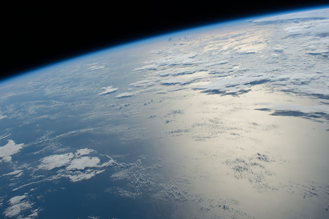 Sun's reflection on Atlantic Ocean seen from the International Space Station