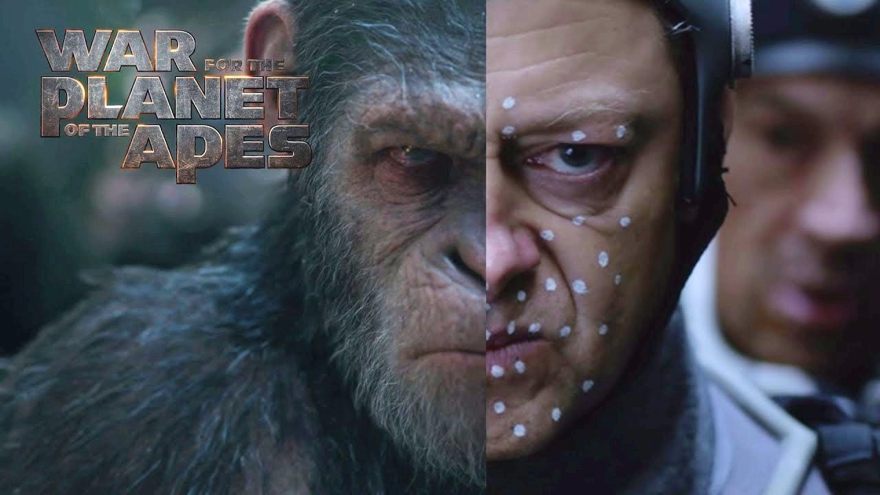 Andy Serkis motion-captured as Caesar