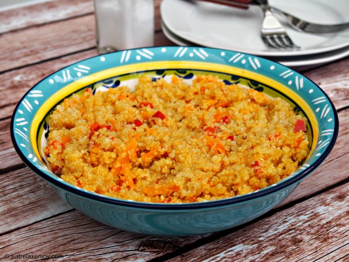 Quinoa with Carrots and Red Peppers