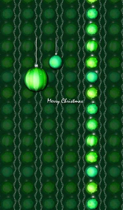 Christmas ornaments -Green-