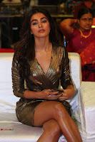 Pooja Hegde looks glamarous in deep neck sleevless short tight golden gown at Duvvada Jagannadham thank you meet function 160.JPG